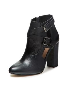 Maggie Cut-Out Leather Buckle Bootie by Atwell