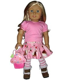 skirt outfit for american girl dolls.