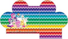 Cajitas imprimibles de My Little Pony 2. | Ideas y material gratis para fiestas y celebraciones Oh My Fiesta! Fiesta Little Pony, Cumple My Little Pony, Little Pony Party, Pony 2, Care Bear Party, Oh My Fiesta, Little Poney, Rainbow Theme, Free Boxes