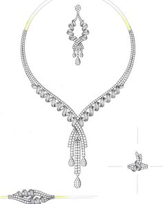 Necklace Concepts. 2D/Manual designs available. #Necklace #Sketch #2D #graphic #drawing #handdrawing #manualdesign #jewelrydesign #jewelrydesigner #jewelryset #jewelrydesigns #dadofcad #necklaces #necklacedesign #design #pencil #pencildrawing