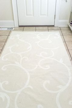 laundry room floor DIY