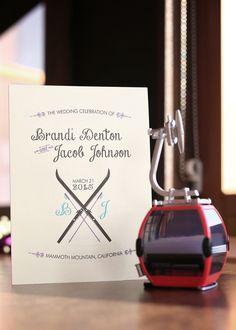 Wedding Invitation | Snowy Mountain Ski Resort Wedding | Cean One Studios