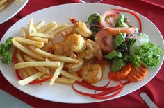 el ancla garlic butter shrimp fries   - Costa Rica