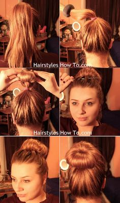 Simple Messy Bun Tutorial that only takes 30 seconds