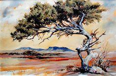 "Terry Kobus - ""Guardian of the Bushveldt"" Oil on Canvas 900 x African Paintings, Tree Paintings, Protea Art, African Tree, Group Art, Tree Art, Art Studios, Art Oil, Art Pictures"