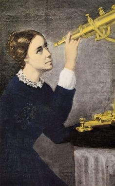 Maria Mitchell: first American female to be a professional astronomer, discovered a comet, now know as Miss Mitchell's Comet