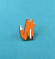 Little Fox Hard Enamel Pin ~ Rachel Ward, rewspins etsy