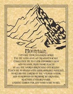 Mountain Prayer Poster Size Wicca Pagan Witch Witchcraft Goth Book of Shadows Wiccan Spells, Wiccan Rituals, Norse Pagan, Celtic Paganism, Wiccan Books, Magick Book, Healing Spells, Beautiful Posters, Spirit Guides