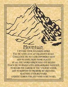 "Mountain Prayer poster 8 12"" x 11""."