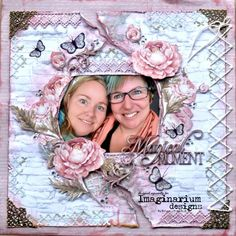 A Layout by Kelly-ann Oosterbeek made using the Sage and Grace Collection from Kaisercraft and Imaginarium Designs Chipboard www.kellyanno.com