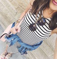 Stripe Swing Dress by @socialiteclothing