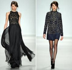 Tadashi Shoji finds inspiration from the rich influence of Arab culture in southern Spain for his fall/winter 2014 runway collection shown at New York Fashion Week. Halter Gown, Tadashi Shoji, Fall Winter 2014, Lace Dresses, Runway, Gowns, Heart, Pretty, Unique