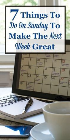 The weekend is a time for some relaxation and fun. But a new week will start soon, and if you want to make it great take time on Sunday (or over the weekend) to also do these 7 things, and the next week will run so much more smoothly. #ad