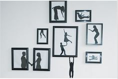 DIY Paper Silhouette Art - Make Your Silhouettes Come to Life. From Time Out New York here.They recommend cutting up photographs, but with photograph editing software and scanners you don't need to do that anymore.
