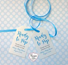 Baby Shower Favor Tags Customized with your name and date. Etsy - Recipe Box Shop