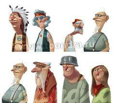 old bones characters by TOONDRA animation studio , via Behance