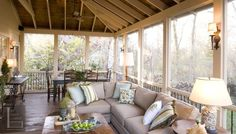Beautiful screened porch via The Porch Company