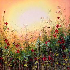 Yulia Muravyeva - Fairytale I Abstract Flowers, Watercolor Flowers, Watercolor Art, Painting Abstract, Landscape Art, Landscape Paintings, Texture Art, Arabesque, Art Pictures