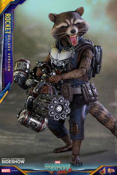 Rocket (Deluxe Ver.) Sixth Scale Action Figure by Hot Toys - Movie Masterpiece - Marvel - Guardians of the Galaxy: Vol 2