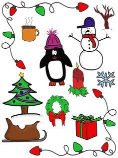 christmas clip art bundle 40 pieces