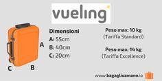 Guida al Bagaglio a Mano Vueling: dimensioni, misure e peso