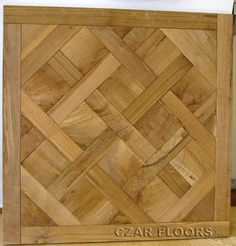 Charachter Grade White Oak M23 Parquet, ID389. Check pictures of other inlays, wood and stone medallions, borders and parquet from Czar Floors.