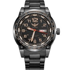 250.00$  Watch now - http://aliqy9.worldwells.pw/go.php?t=32757213432 - YELANG V1015 upgrade version khaki number tritium gas green luminous men automatic mechanical business watch-steel watchband