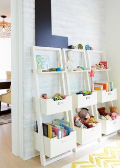 9 Kids Playroom Storage Ideas That Do The Cleaning For You Creative Toy Storage, Baby Toy Storage, Playroom Storage, Kids Room Organization, Playroom Design, Bedroom Storage, Storage Ideas, Diy Bedroom, Storage Hacks