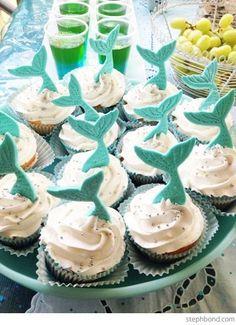 DIY Mermaid Tail cupcakes.