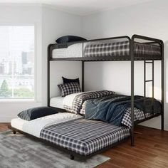 Ezra Twin Metal Bunk Bed with Trundle Multiple Colors Ideas Of Studio Bunk Beds. House Bunk Bed, Loft Bunk Beds, Bunk Bed With Trundle, Metal Bunk Beds, Bunk Beds With Stairs, Kids Bunk Beds, Bunk Beds For Girls Room, Adult Bunk Beds, Beds For Small Rooms