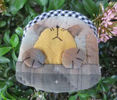 handmade applique quilt cotton fabric cat coin pouch purse mini zipper bag #Handmade #coinpurse