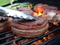 Bacon-Wrapped Beef Tenderloin Medallions - Food for My Family (Father's Day Dinner Lunch Meat Animal products Bring Home the Bacon Salt Beef...