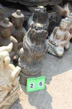 Pair of stone foo dogs from Beijing, China