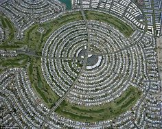The hidden beauty of America's suburbs: Photographer Christoph Gielen spent seven years photographing suburbs from the air for new book 'Cip...