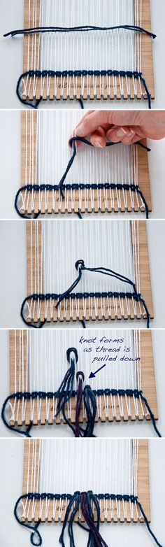 Rya Knot- how to use your Unusual Pear Loom|The Weaving Loom