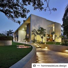 #Repost @hommesdeluxe.design with @repostapp  from @modern.architect - Shell House by Dipen Gada #India ...  courtesy of Dipen Gada