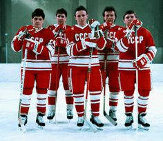 Sergei Makarov. Alexei Kasatonov, Igor Larionov. Viacheslav Fetisov &Vladimir Krutov