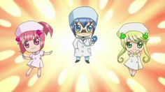 Episode 087: Save Nana! Guardian Character Nurse and Safeguarding ...  Ahahahah Miki's so funny with that mustache x'D
