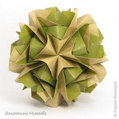 Master class Kusudama  Savannah  - by Valentina Minayeva Tutorial: http://stranamasterov.ru/node/584832