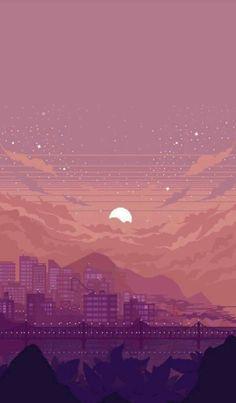 Anime Scenery Wallpaper, Aesthetic Pastel Wallpaper, Cute Wallpaper Backgrounds, Pretty Wallpapers, Aesthetic Backgrounds, Galaxy Wallpaper, Aesthetic Wallpapers, Tumblr Wallpapers For Iphone, 8 Bit Iphone Wallpaper