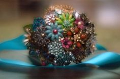 brooch bouquet provided by Old2New Custom Designs