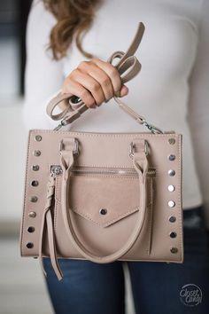 Keep You Close Studded Bag - Taupe 9237ffd780