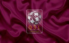 Download wallpapers Qatar Stars League, logo, emblem, 4k, football championship, Qatar
