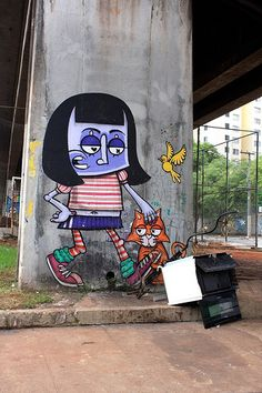 Mural by CHIVITZ. São Paulo, Brazil. Photo: Fernando Gomes. Grafitti Street, Street Art Utopia, 3d Street Art, Amazing Street Art, Street Artists, Street Mural, Graffiti Artwork, Mural Art, Urban Graffiti
