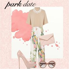 #pasteloutfit #ootd ilove pastel by pinkaime on Polyvore featuring polyvore, fashion, style, Warehouse, Matthew Williamson, Giuseppe Zanotti, Rebecca Minkoff, Dorothy Perkins, Valentino and Beacon