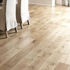 Welles Hardwood Brady French Oak Thick x Wide x Length Engineered Hardwood Flooring Finish: Distressed Natural Hardwood Floor Colors, Light Hardwood Floors, White Oak Floors, Hardwood Types, Distressed Hardwood Floors, Maple Floors, Natural Wood Flooring, Solid Wood Flooring, Engineered Hardwood Flooring