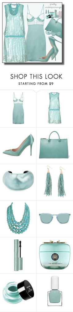 """""""Pretty Underpinnings"""" by marionmeyer ❤ liked on Polyvore featuring La Perla, P.A.R.O.S.H., Sarah Jessica Parker, Jil Sander, Alexis Bittar, Humble Chic, Tatcha, NYX, tenoverten and Christian Dior"""