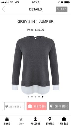 Grey 2 in 1 jumper