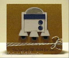 Love the Star War Themed card. Totally going to make this for Valentines day.