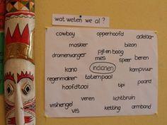 www.jufjanneke.nl | Indianen-woordweb